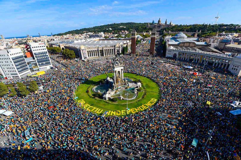 Diada 2019. Independentismo catalán